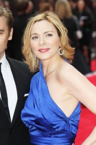 Kim Cattrall, The Laurence Olivier Awards, Royal Opera House London UK, 28 April 2013, (Photo by Richard Goldschmidt)