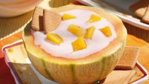 crema de iaurt in pepene galben