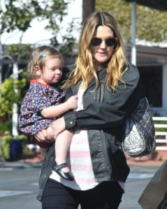 Drew Barrymore and Olive Visit Fred Segal's