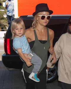Kate Hudson Departs With Sons Bing And Ryder At LAX