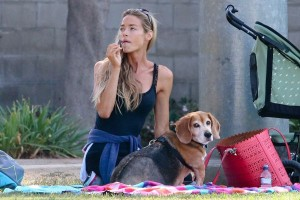 Denise Richards Out With Her New Baby.