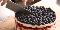Reteta rapida tort de fructe fara coacere
