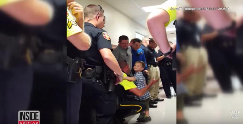 copil inconjurat de politisti