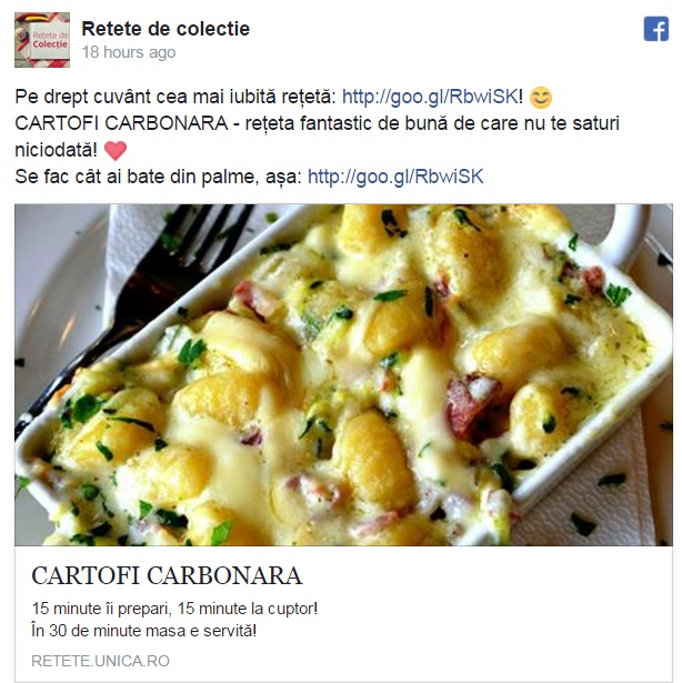 cartofi carbonara