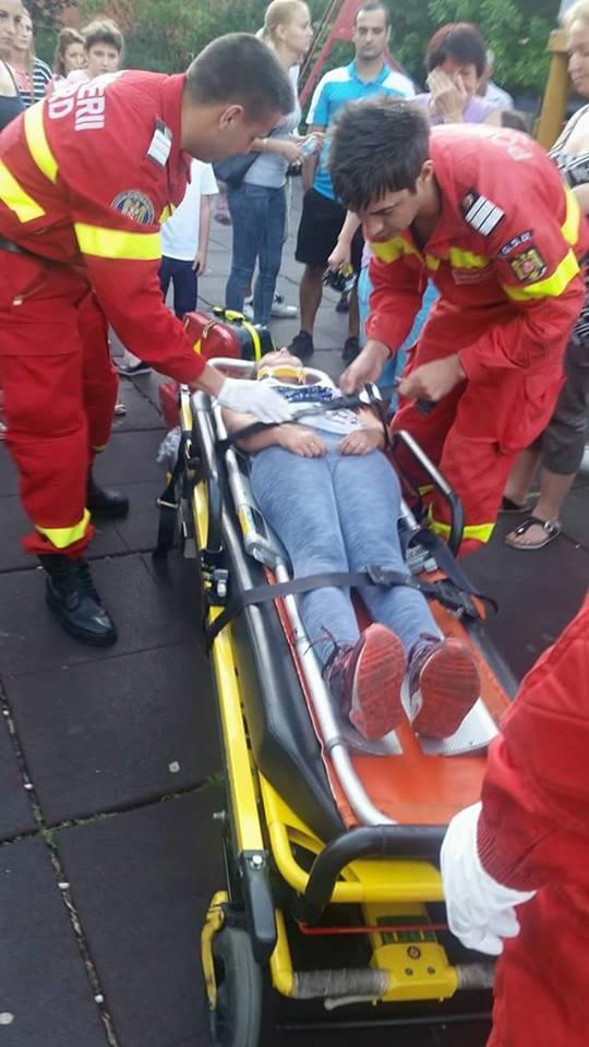 accident la un loc de joaca din Bucuresti