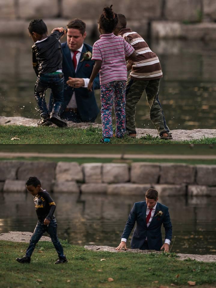 A salvat un copil de la inec in timpul nuntii sale 1