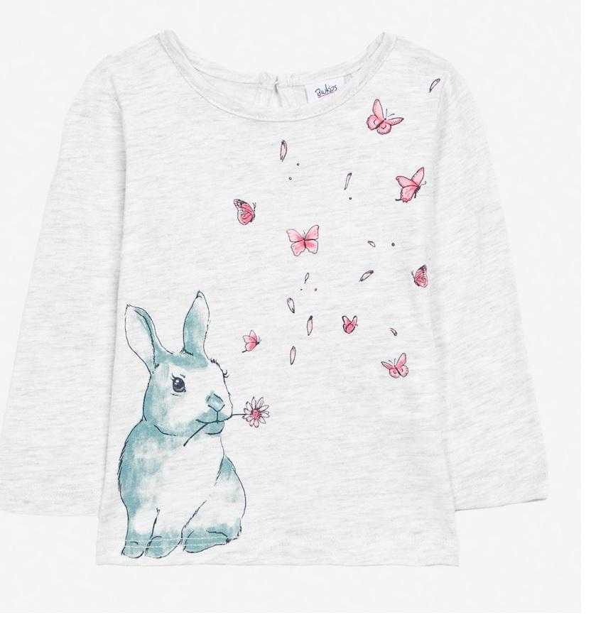Cadouri de Paște pentru copii-bluză albă cu iepuraș