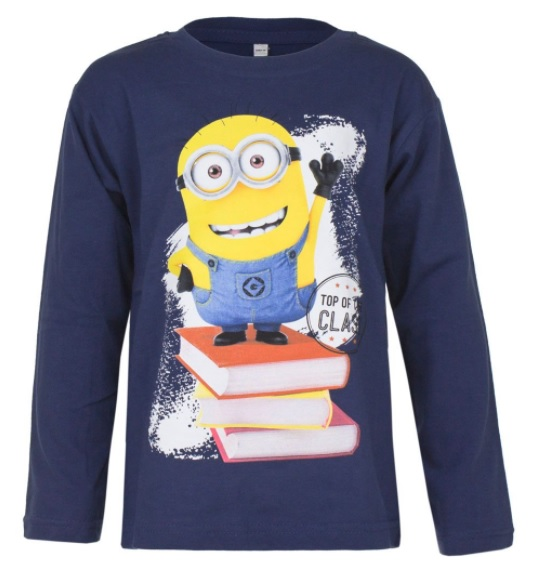 Haine noi pentru copii de Paște-bluză albastră cu imprimeu minion