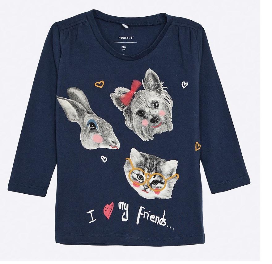 Cadouri de Paște pentru copii-bluză albă cu animale