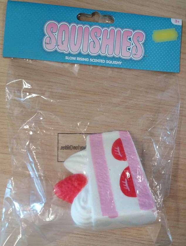 Jucariile tip squishie in forma de felie de tort, un pericol pentru cei mici 2
