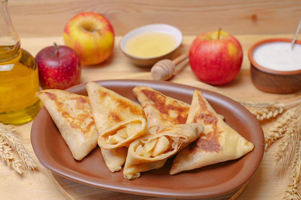 Clătite cu mere