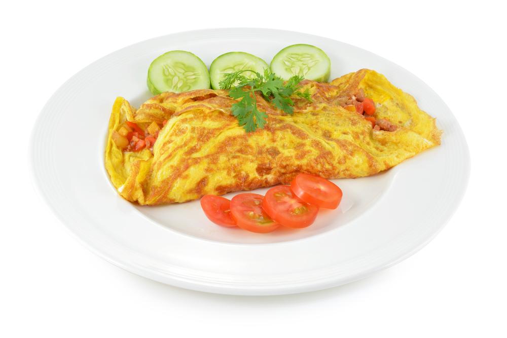 Idei de mic dejun - omletă cu legume