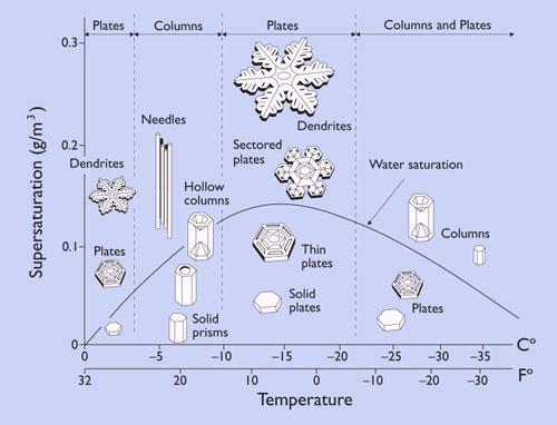 Zăpada, fulgi de nea - forma fulgilor de zapada